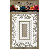 Paper Rose - Dies - Ornate Swirl Rectangle Frame