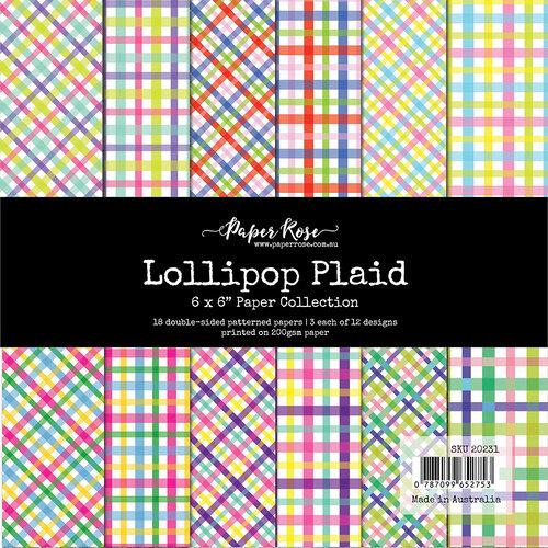 Paper Rose - 6 x 6 Collection Pack - Lollipop Plaid