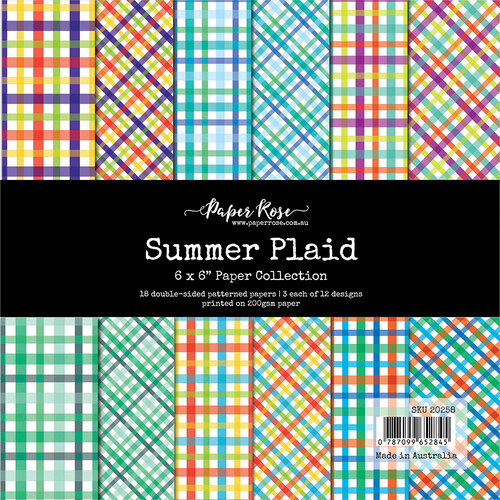 Paper Rose - 6 x 6 Collection Pack - Summer Plaid