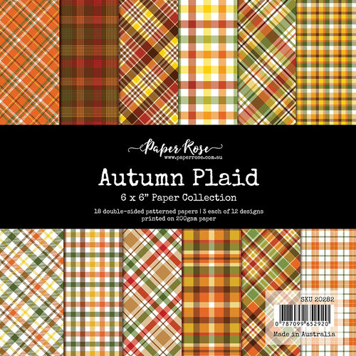 Paper Rose - 6 x 6 Collection Pack - Autumn Plaid