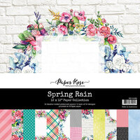 Paper Rose - 12 x 12 Collection Pack - Spring Rain