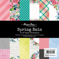 Paper Rose - 6 x 6 Collection Pack - Spring Rain