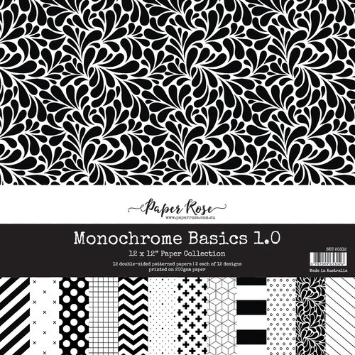 Paper Rose - 12 x 12 Collection Pack - Monochrome Basics