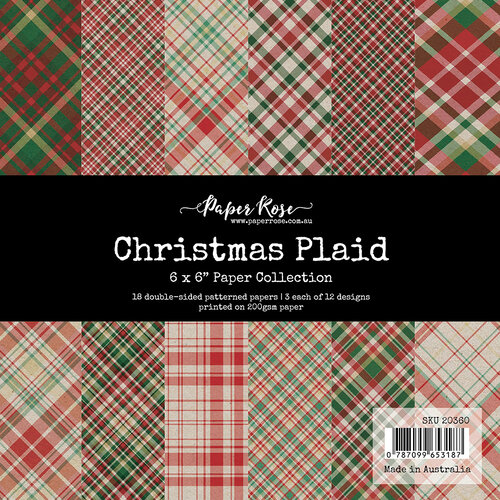 Paper Rose - 6 x 6 Collection Pack - Christmas Plaid