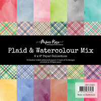 Paper Rose - 6 x 6 Collection Pack - Plaid and Watercolour