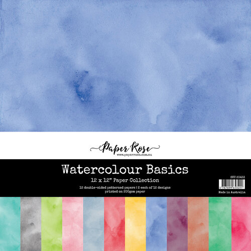 Paper Rose - 12 x 12 Collection Pack - Watercolor Basics