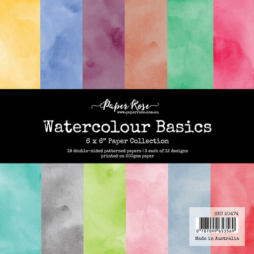 Paper Rose - 6 x 6 Collection Pack - Watercolour Basics