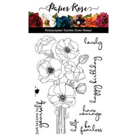 Paper Rose - Clear Photopolymer Stamps - Modern Poppies