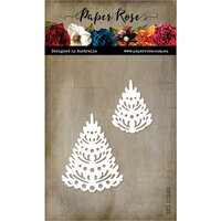 Paper Rose - Dies - Christmas Fir Trees Small