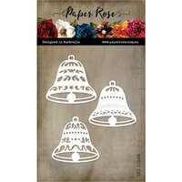 Paper Rose - Christmas - Dies - Bell Ornaments