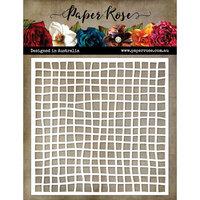 Paper Rose - 6 x 6 Stencil - Fish Net