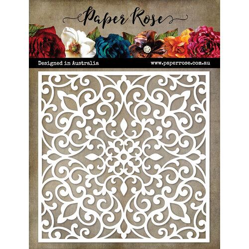 Paper Rose - 6 x 6 Stencil - Ornate Lattice