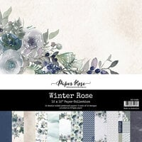 Paper Rose - 12 x 12 Collection Pack - Winter Rose