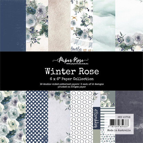 Paper Rose - 6 x 6 Collection Pack - Winter Rose