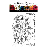 Paper Rose - Clear Photopolymer Stamps - Big Bloom