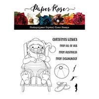 Paper Rose - Clear Photopolymer Stamps - Christmas - Summer Santa