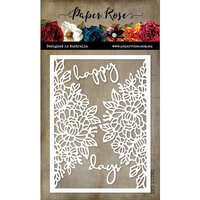 Paper Rose - Dies - Happy Days Cover Plate