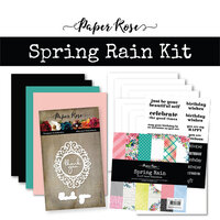Paper Rose - Card Making Kit - Spring Rain