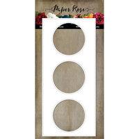 Paper Rose - Dies - Slimline Card Creator 2 - Circles