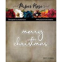 Paper Rose - Dies - Christmas - Merry Christmas Fine Script