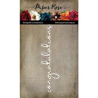 Paper Rose - Dies - Congratulations Fine Script