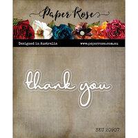 Paper Rose - Dies - Thank You Fine Script