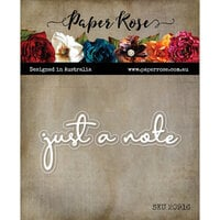 Paper Rose - Dies - Just A Note Fine Script