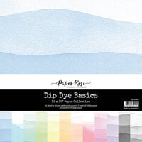 Paper Rose - 12 x 12 Collection Pack - Dip Dye Basics