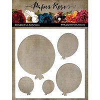 Paper Rose - 6 x 6 Stencil - Balloon