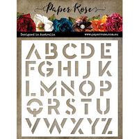 Paper Rose - 6 x6 Stencil - Modern Alpha