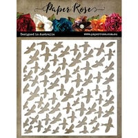 Paper Rose - 6 x6 Stencil - Lots And Lots Of Birds