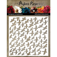 Paper Rose - 6 x 6 Stencil - Lots And Lots Of Birds