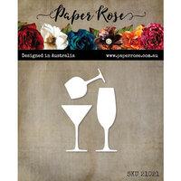 Paper Rose - Dies - Wine Glass