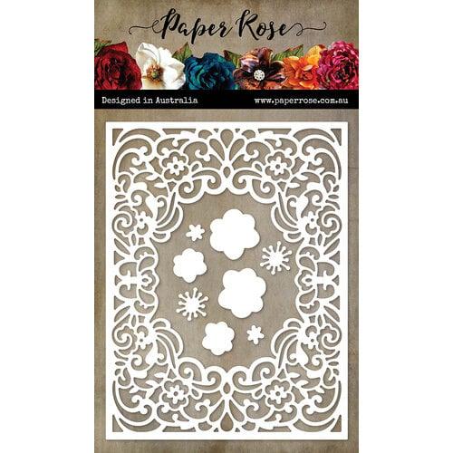 Paper Rose - Dies - Spring Floral Frame