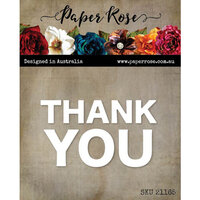Paper Rose - Dies - Thank You Block