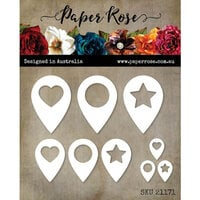Paper Rose - Dies - Location Markers