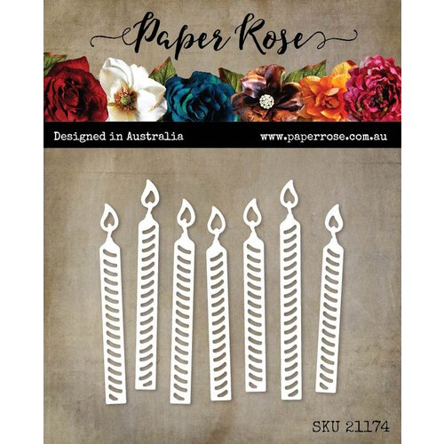 Paper Rose - Dies - Birthday Candles