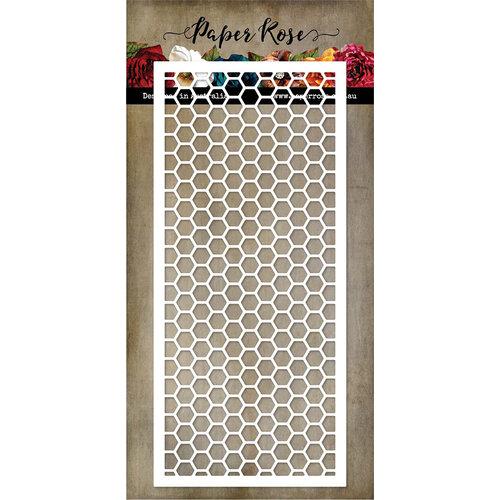 Paper Rose - Dies - Slimline - Card Creator 5 - Hexie