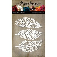 Paper Rose - Dies - Feather Trio