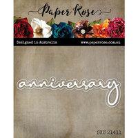 Paper Rose - Dies - Anniversary Fine Script Layered Word