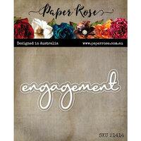 Paper Rose - Dies - Engagement Fine Script Layered Word