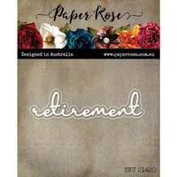 Paper Rose - Dies - Retirement Fine Script Layered Word