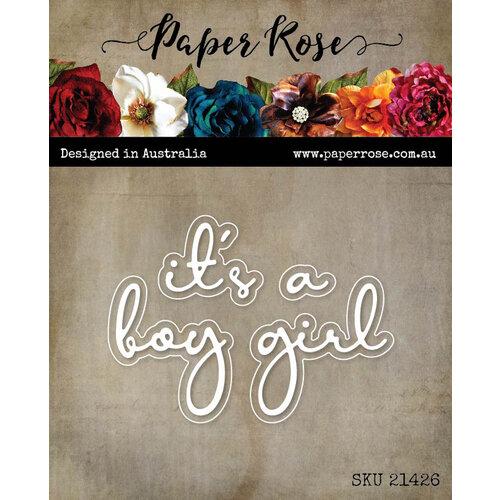 Paper Rose - Dies - It's A Boy Fine Script