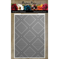 Paper Rose - 3D Embossing Folder - Striped Diamond