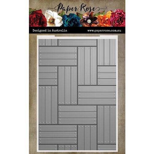Paper Rose - 3D Embossing Folder - Wood Panels