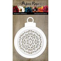 Paper Rose - Dies - Large Decorative Christmas Bauble