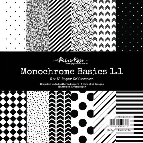 Paper Rose - 6 x 6 Collection Pack - Monochrome Basics