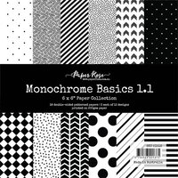 Paper Rose - 6 x 6 Double Sided Paper Collection - Monochrome Basics