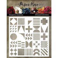 Paper Rose - 6 x 6 Stencils - Geo Inchies