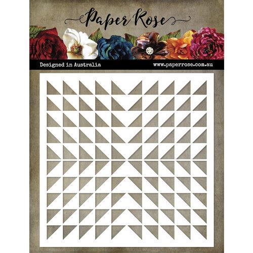 Paper Rose - 6 x 6 Stencils - Triangle Burst